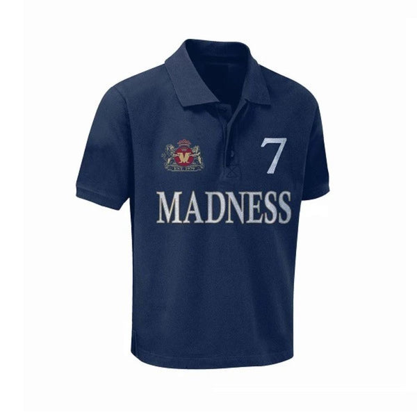 Navy Madness 7 Kids Polo Shirt