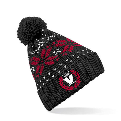 Laurel Ski Hat Black/Red