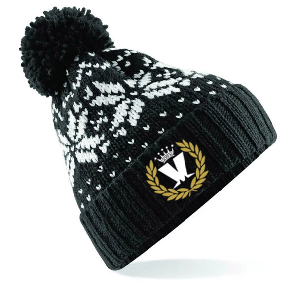 Laurel Ski Hat Black/White