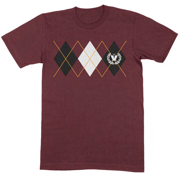 DIAMONDS BURGUNDY T SHIRT