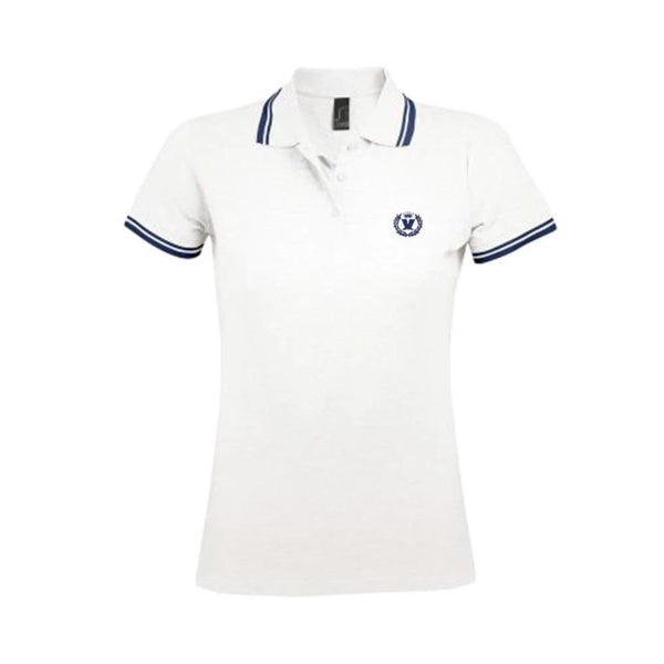 LADIES WHITE  LAUREL POLO