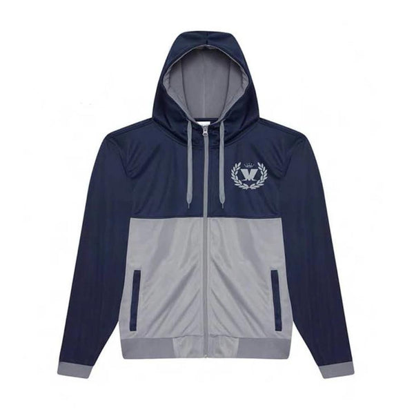 RETRO ZIP UP TRACK JACKET NAVY/GREY