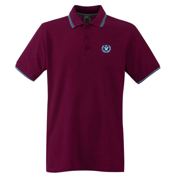 Laurel Two Tone polo maroon