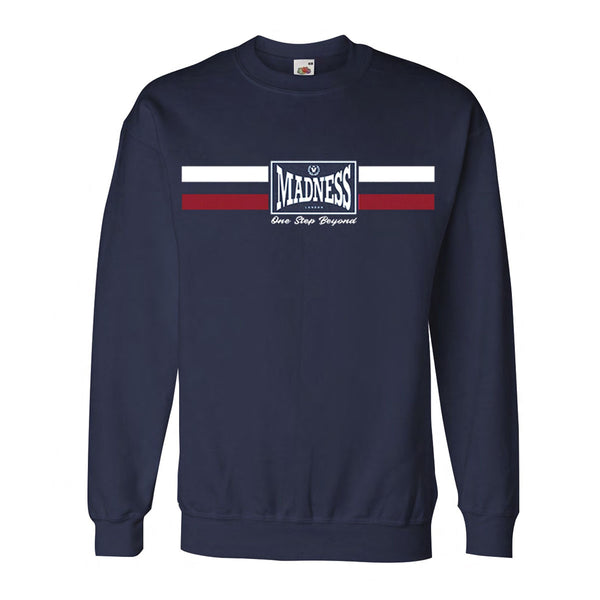 THREE STRIPE NAVY SWEATSHIRT