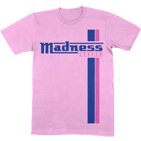 TWO STRIPE PINK & NAVY T-SHIRT