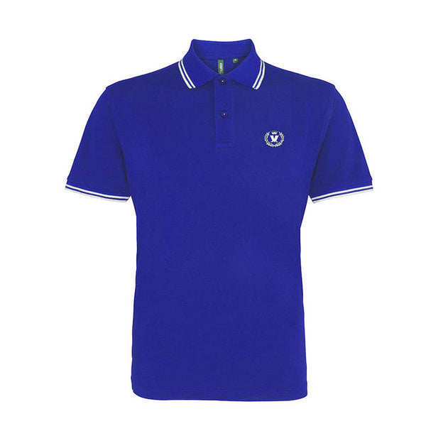 Royal Blue White Laurel Polo