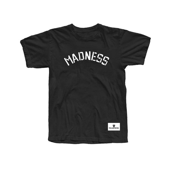 ONLINE EXCLUSIVE SPLIT LOGO BLACK T-SHIRT