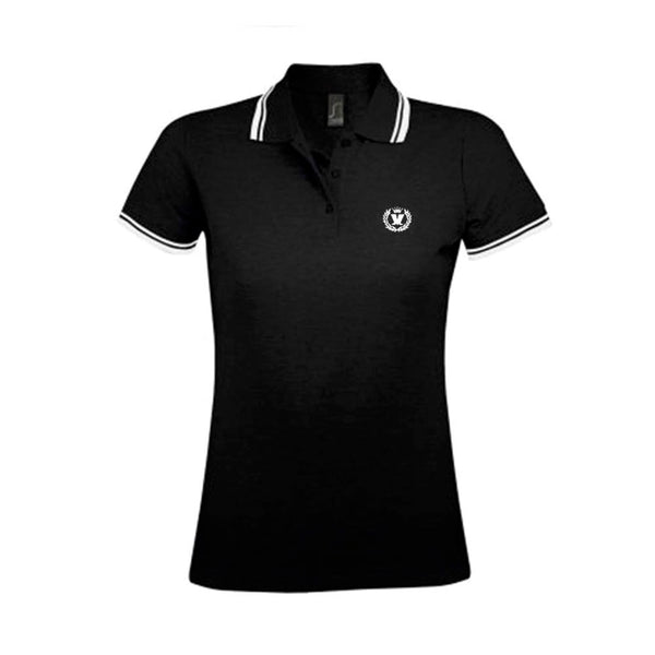 LADIES BLACK LAUREL  POLO