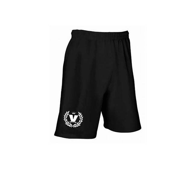 Laurel Logo Black Shorts