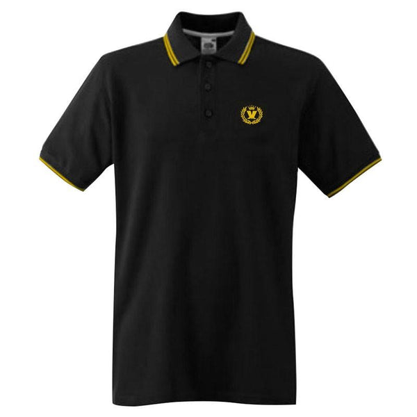 Laurel Two Tone Black Polo