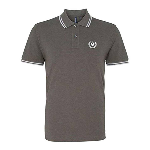 Charcoal and White Laurel Polo  - ONLINE EXCLUSIVE COLOUR