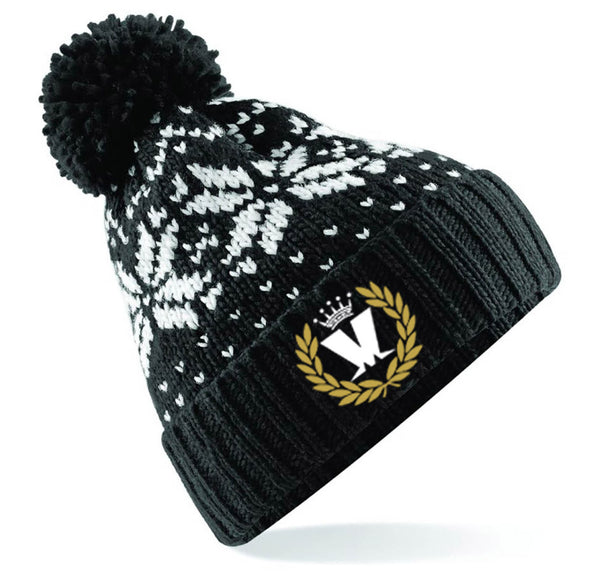 Laurel Ski Black/White Hat