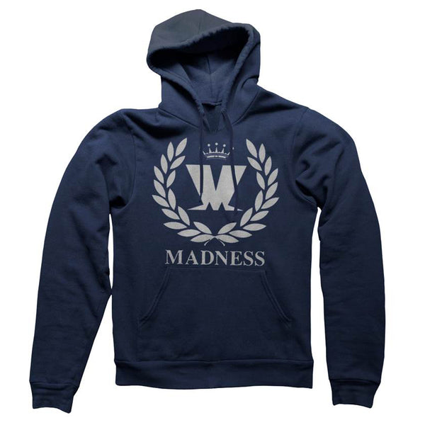 M Laurel Navy / Grey Print Hoody