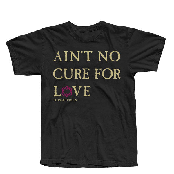 Black No Cure For Love Text T-Shirt