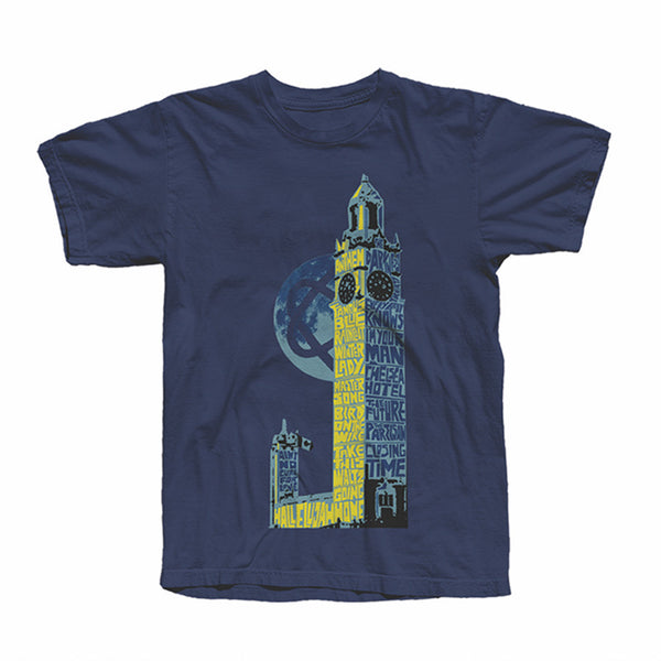 NAVY MONTREAL TOWER OF SONG T-Shirt
