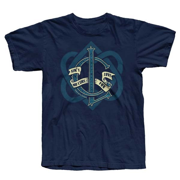Navy No Cure For Love Big Heart T-Shirt