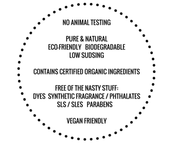 toxin free laundry soap product feature graphic