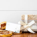 Load image into Gallery viewer, Holiday Soap Bar & Stone Soap Dish Gift Set