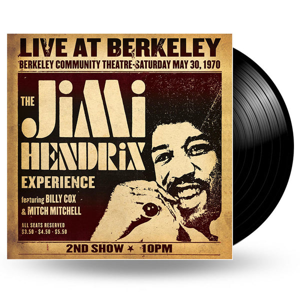 JIMI HENDRIX - LIVE AT BERKELEY - 2LP