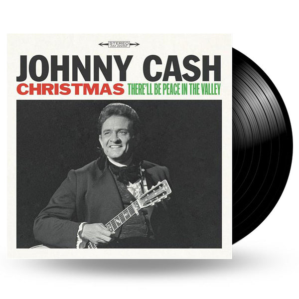 JOHNNY CASH - CHRISTMAS: THERE'LL BE PEACE IN THE VALLEY - LP