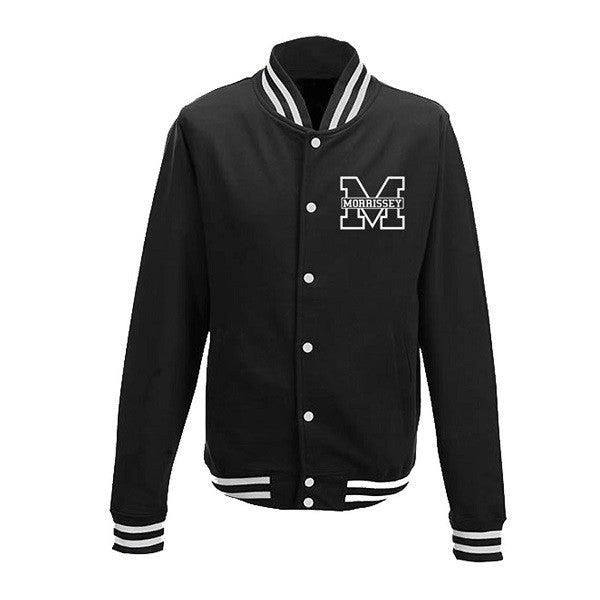 BLACK/WHITE VARSITY LOGO JACKET