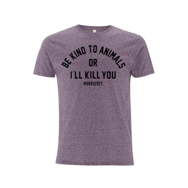 BE KIND HEATHER PURPLE T-SHIRT