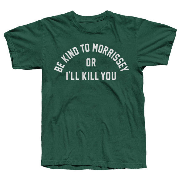 BE Kind To Morrissey Forest Green Tee
