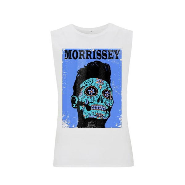 DAY OF THE DEAD WHITE SLEEVELESS T-SHIRT