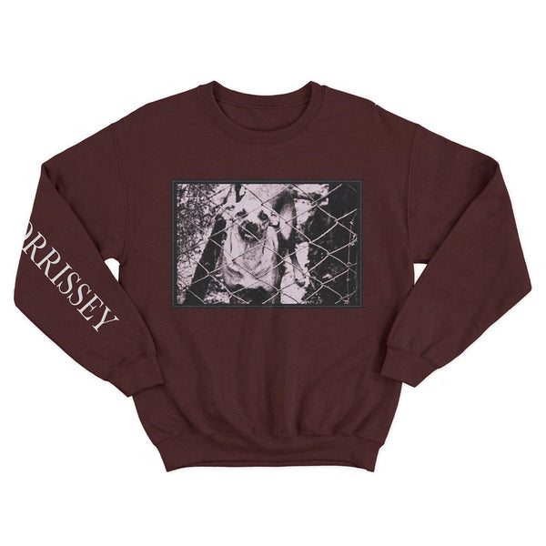 DOG PATCH PHOTO MAROON SWEATSHIRT