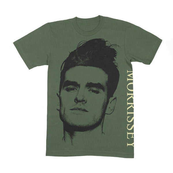 FACE SIDE PRINT OLIVE T SHIRT