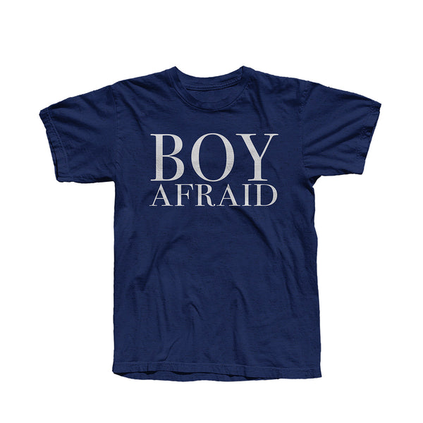 BOY AFRAID HEATHER NAVY T-SHIRT
