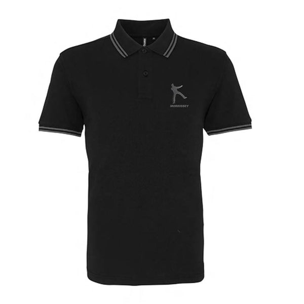 KICK EMBROIDERED POLO BLACK AND GREY