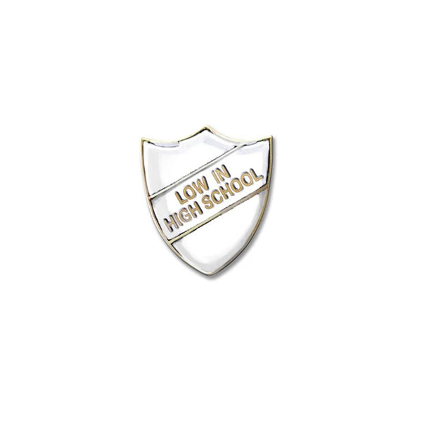 WHITE PIN BADGE