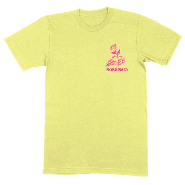 LOVE IS HAND & ROSE YELLOW T SHIRT