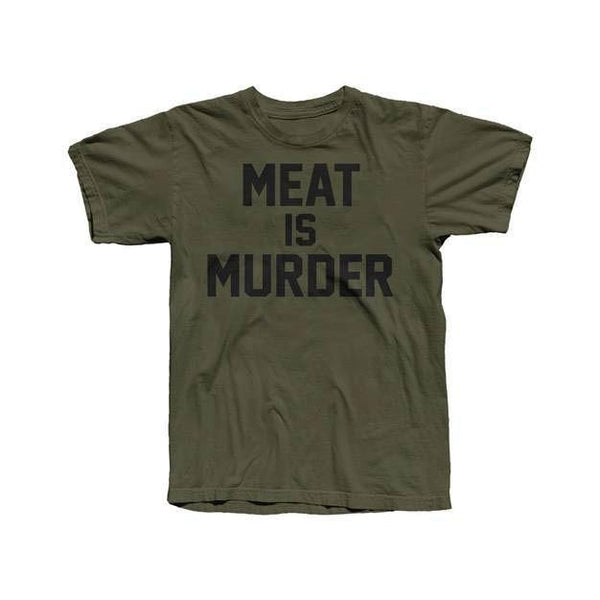 MEAT IS MURDER MENS NO LOGO OLIVE TEE