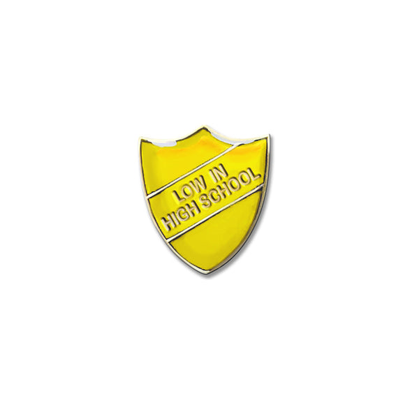 YELLOW PIN BADGE