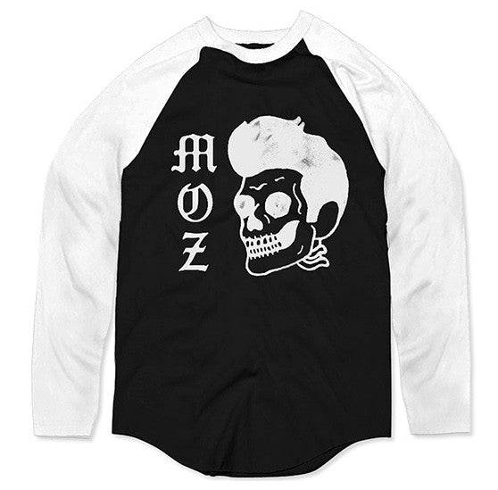 Moz Skull 3/4 Sleeve Baseball Shirt