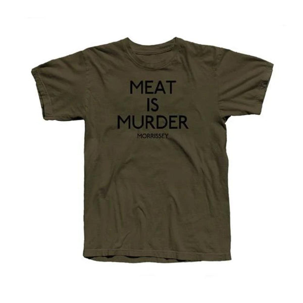 MEAT IS MURDER MENS OLIVE TEE