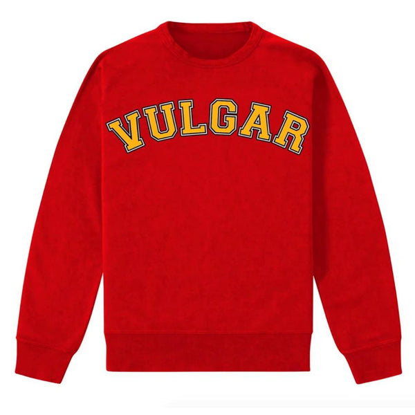 VULGAR PULLOVER RED SWEATSHIRT