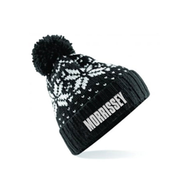 BLACK & WHITE LOGO BOBBLE HAT