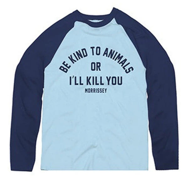 SKY BLUE BE KIND BASEBALL SHIRT