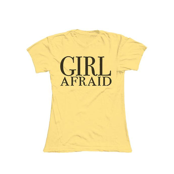 GIRL AFRAID DAISY LADIES T-SHIRT