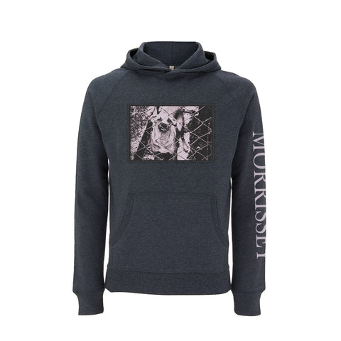 DOG PHOTO PATCH BLACK MELANGE HOODY