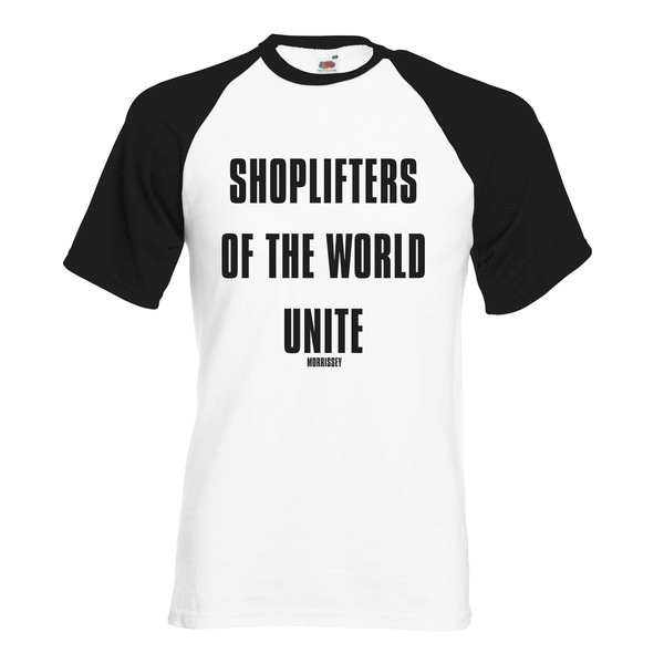 WHITE / BLACK SHOPLIFTERS BASEBALL SHIRT