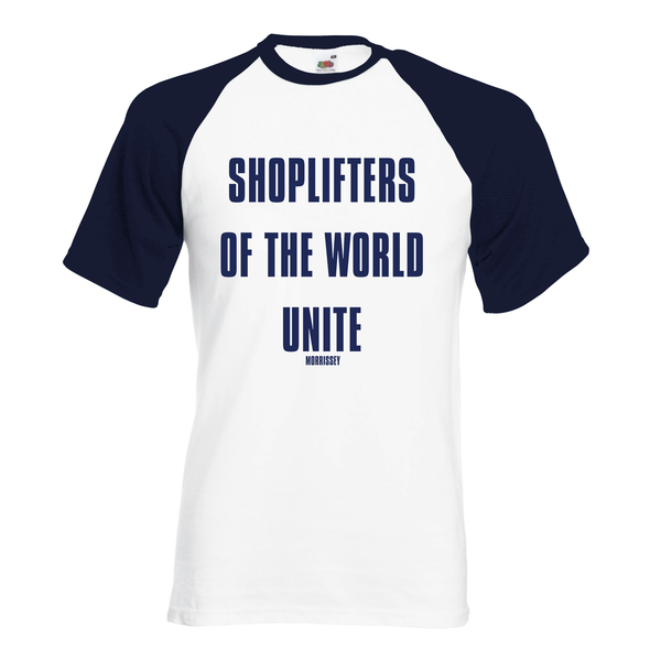 WHITE / NAVY SHOPLIFTERS BASEBALL SHIRT