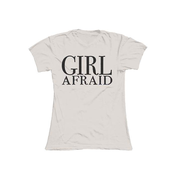 GIRL AFRAID SAND LADIES T-SHIRT