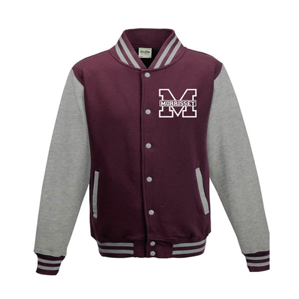 BURGUNDY/GREY VARSITY JACKET