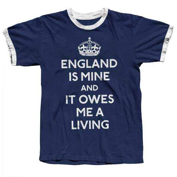 Navy England Is Mine Ringer Tee