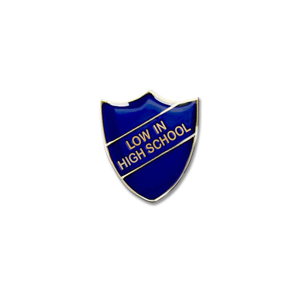 BLUE PIN BADGE