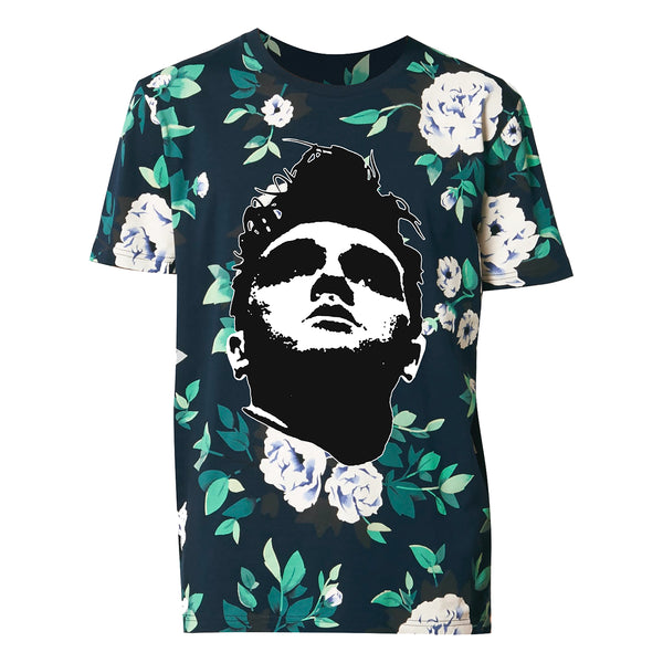 Floral All Over Print Face T-Shirt